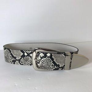 B-low snake print belt